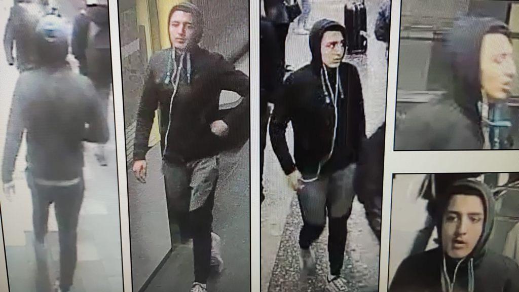Morad y su cómplice fueron fotografiados durante la tentativa de robo.