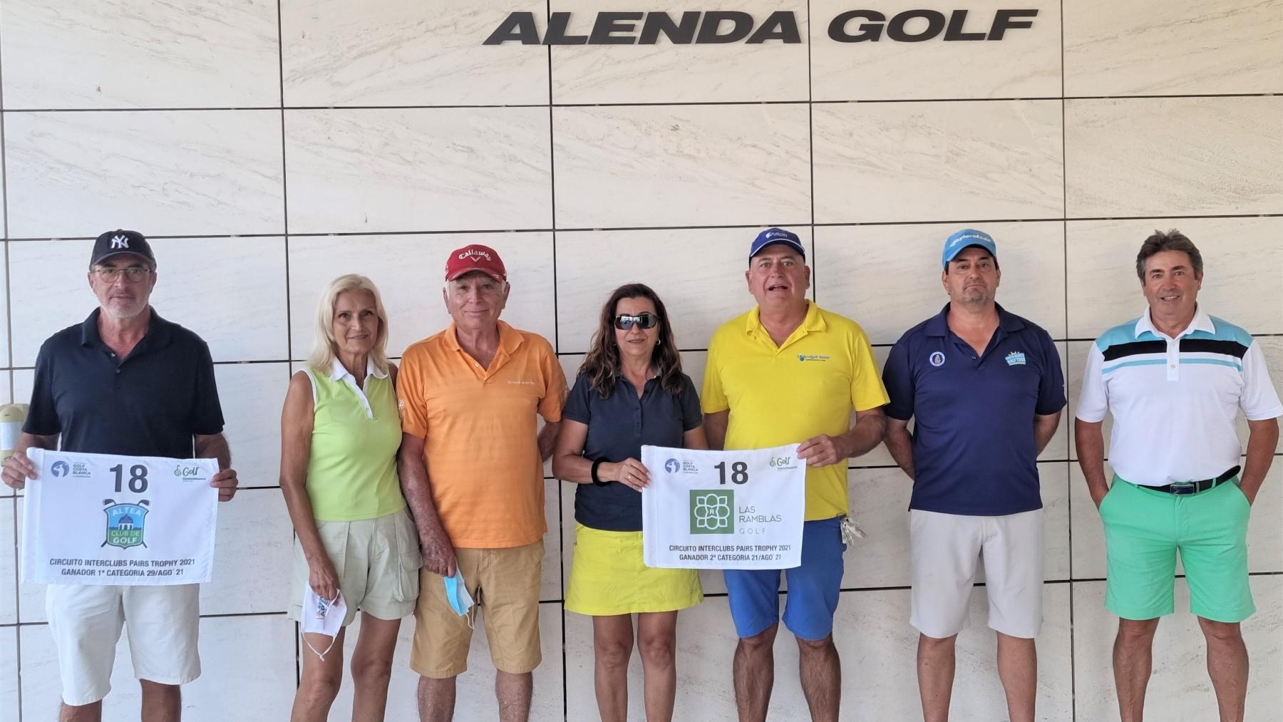 Alenda Golf, ganadores del Interclubs Pairs Trophy.