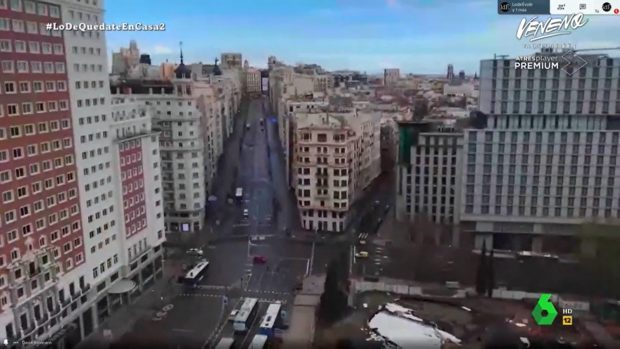 El presentador de 'La Resistencia' vive junto a la Plaza de España y la Gran Vía de Madrid
