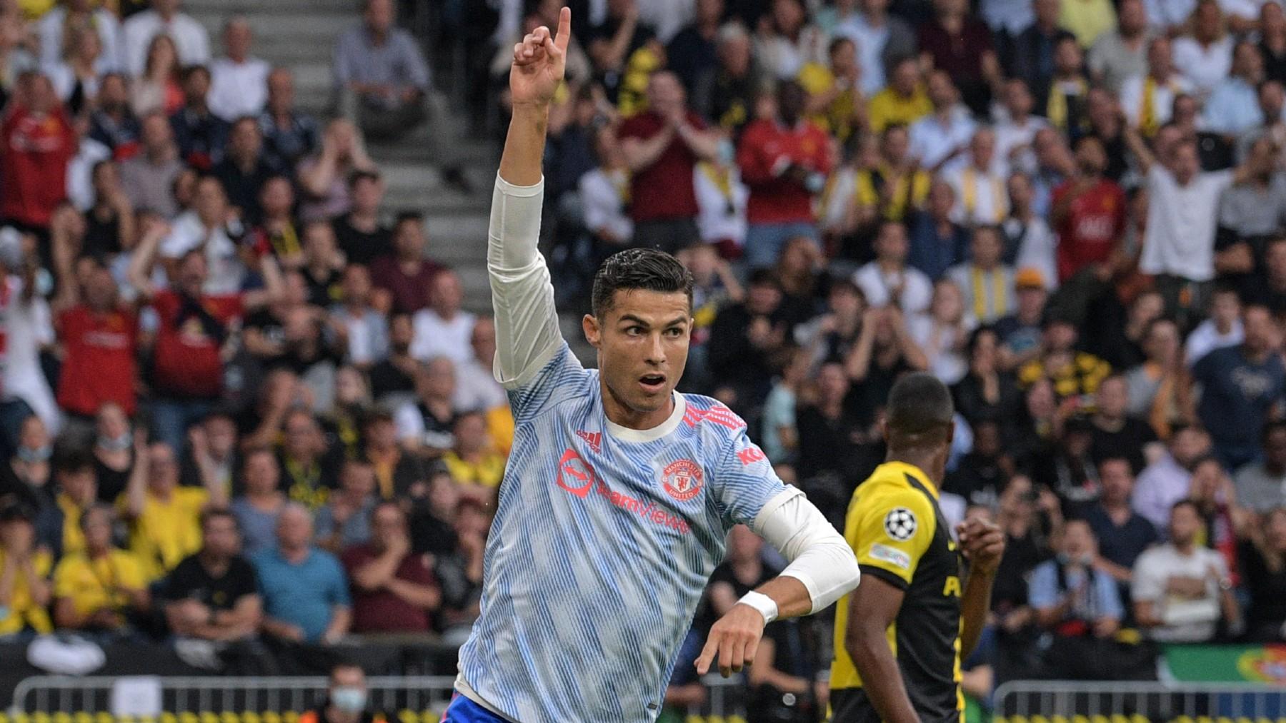 Cristiano Ronaldo celebra su gol al Young Boys. (AF)