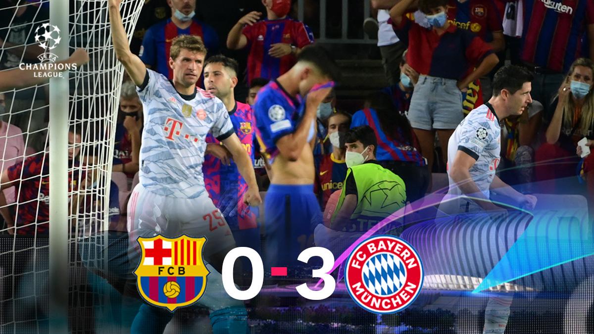 El Bayern se impuso por 0-3 al Barcelona en la Champions League.