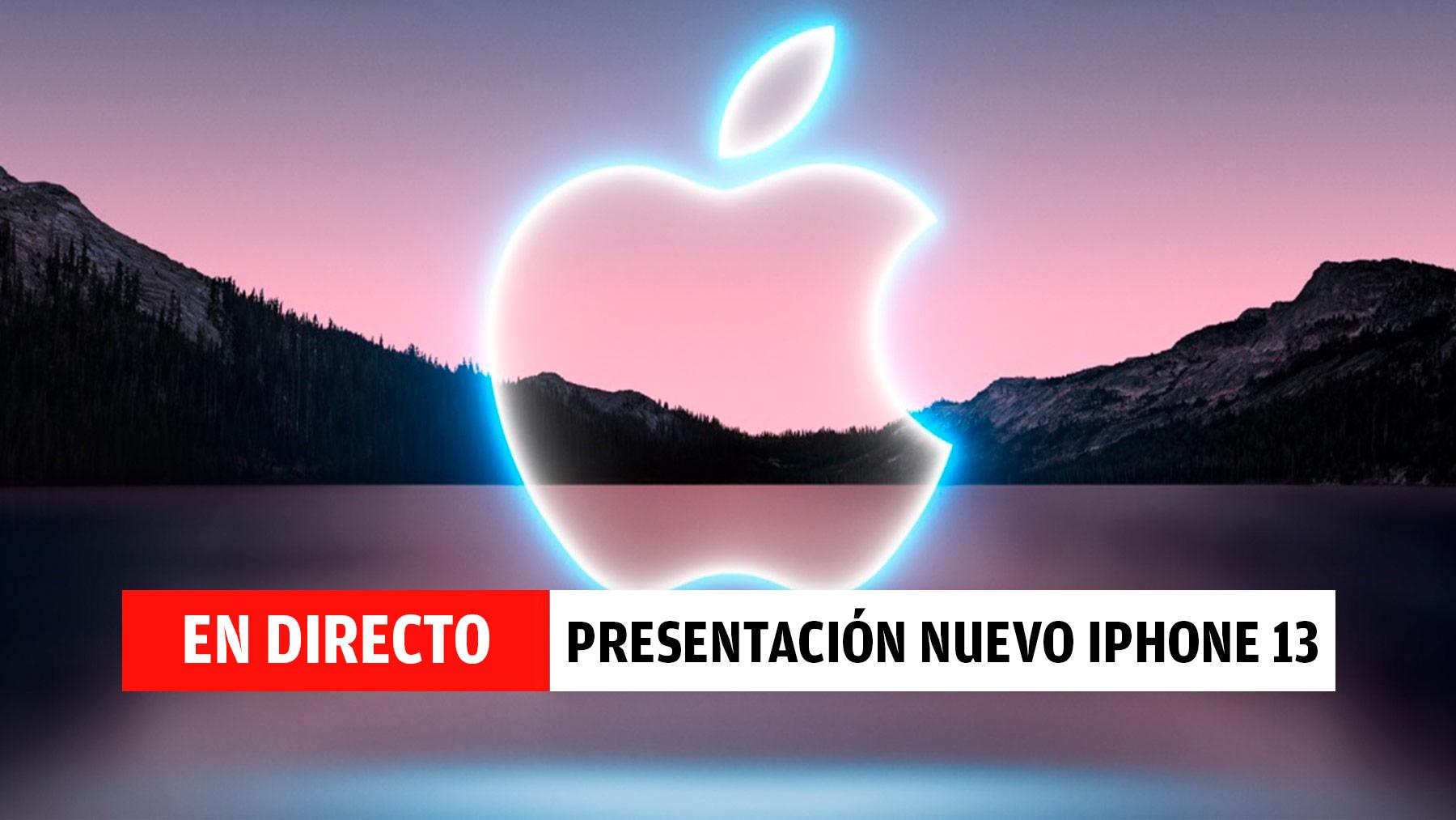 Presentación del iPhone 13, streaming en directo