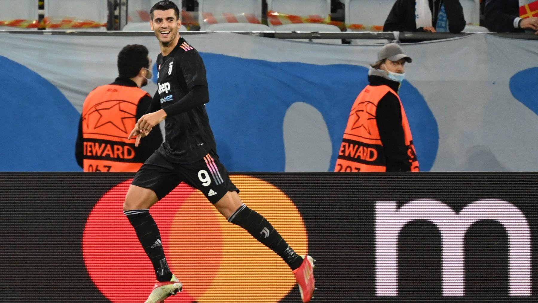 Morata celebra un gol con la Juventus. (AFP)