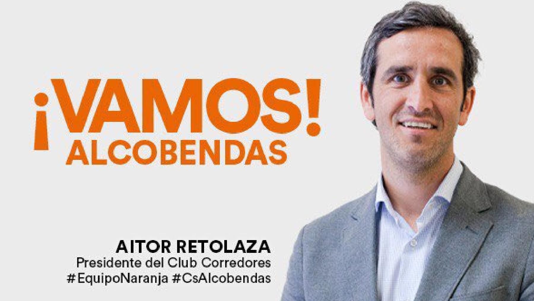 Cartel electoral de Aitor Retolaza en los comicios de 2019.