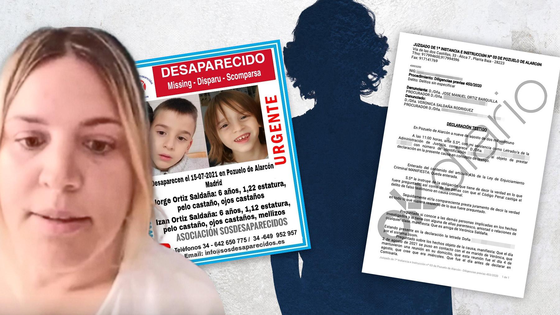 La madre de los niños y una declaración judicial.