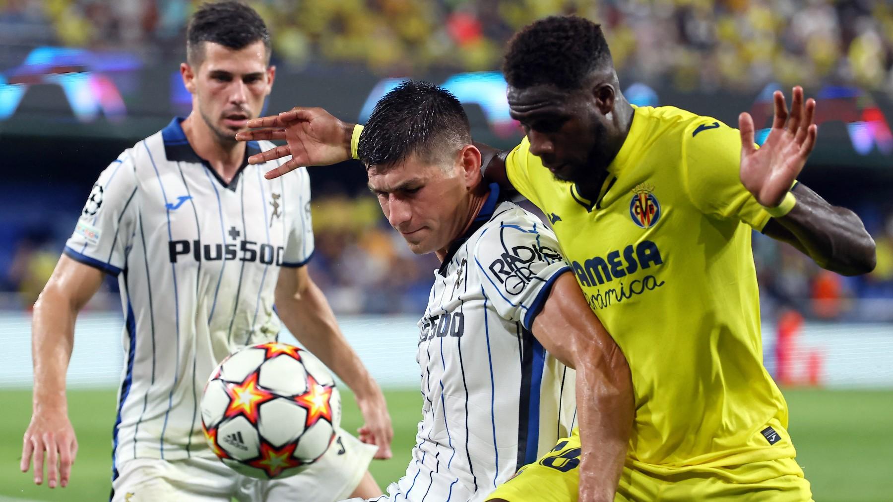 Villarreal y Atalanta empatan en Castellón. (AFP)