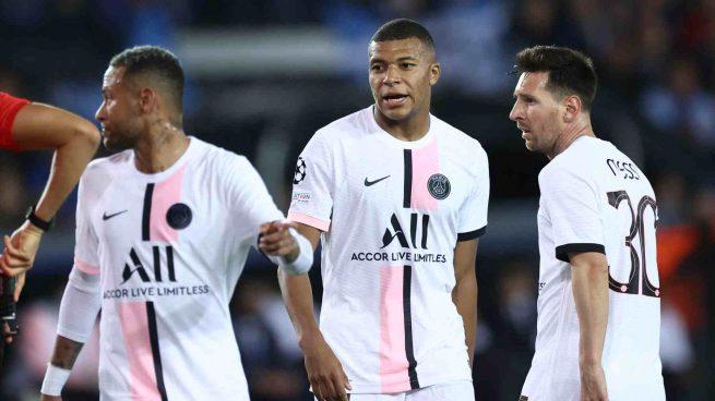Neymar, Mbappé y Messi