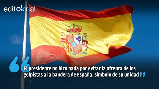 Sánchez, la indignidad por bandera