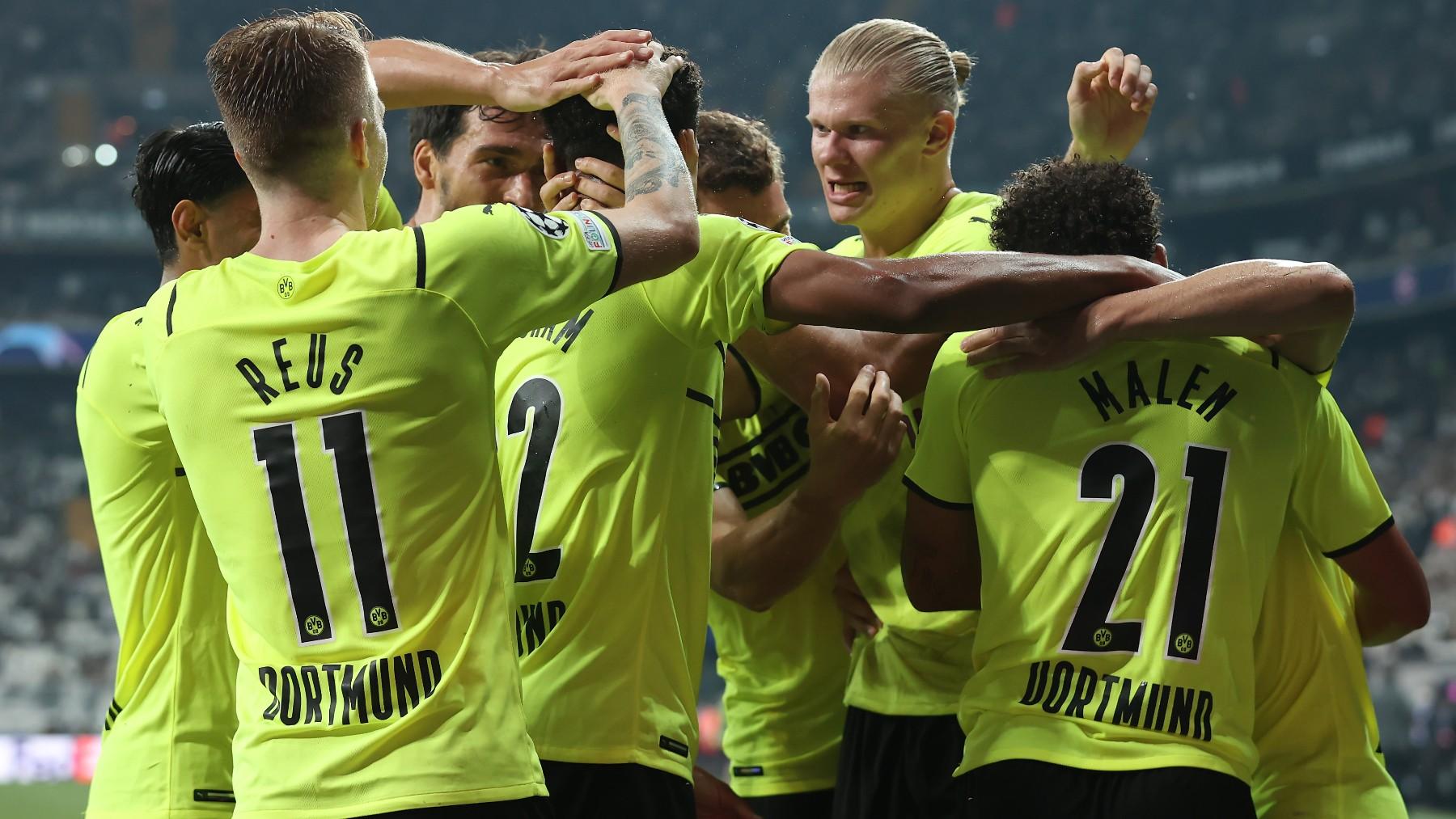 El Dortmund celebra un gol ante el Besiktas. (Getty)