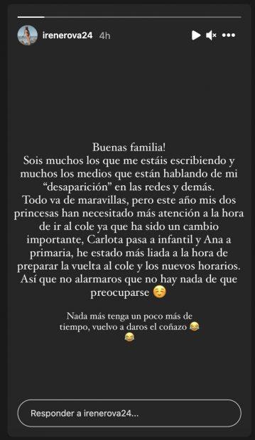 Irene Rosales en Instagram