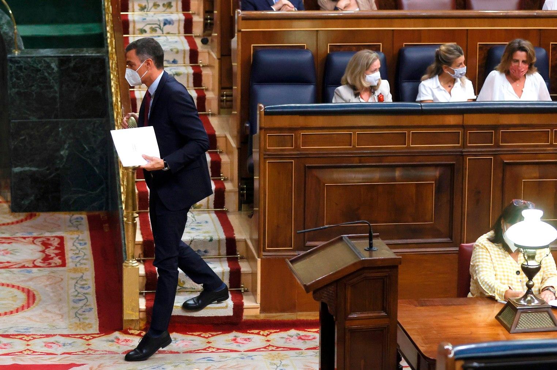 Pedro Sánchez, en el Gobierno.