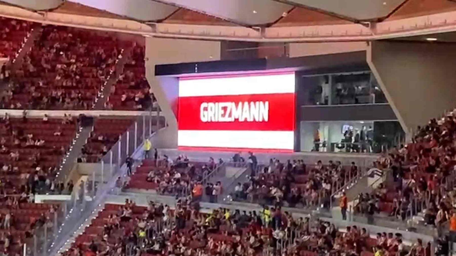 La afición del Atlético pitó a Griezmann.