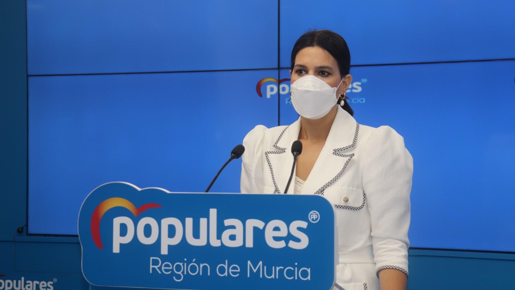 La portavoz del PP en la Región de Murcia, Miriam Guardiola.