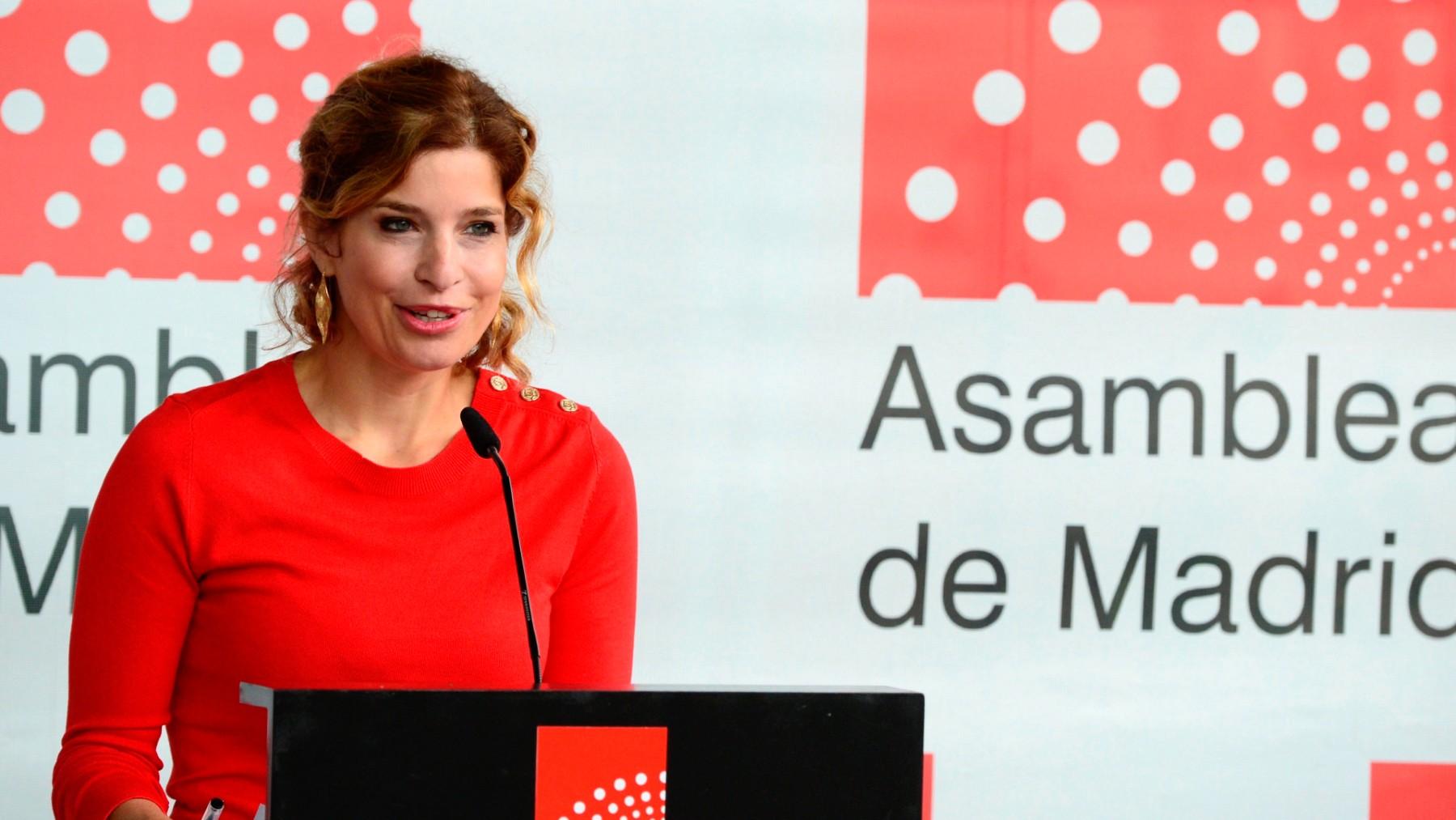 La portavoz del PSOE en la Asamblea de Madrid, Hana Jalloul.