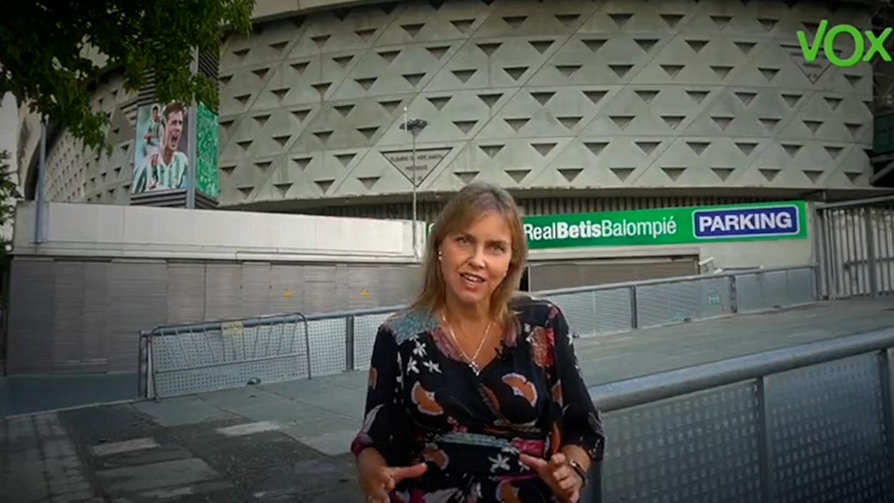 Cristina Peláez, portavoz de Vox en el Ayuntamiento de Sevilla.