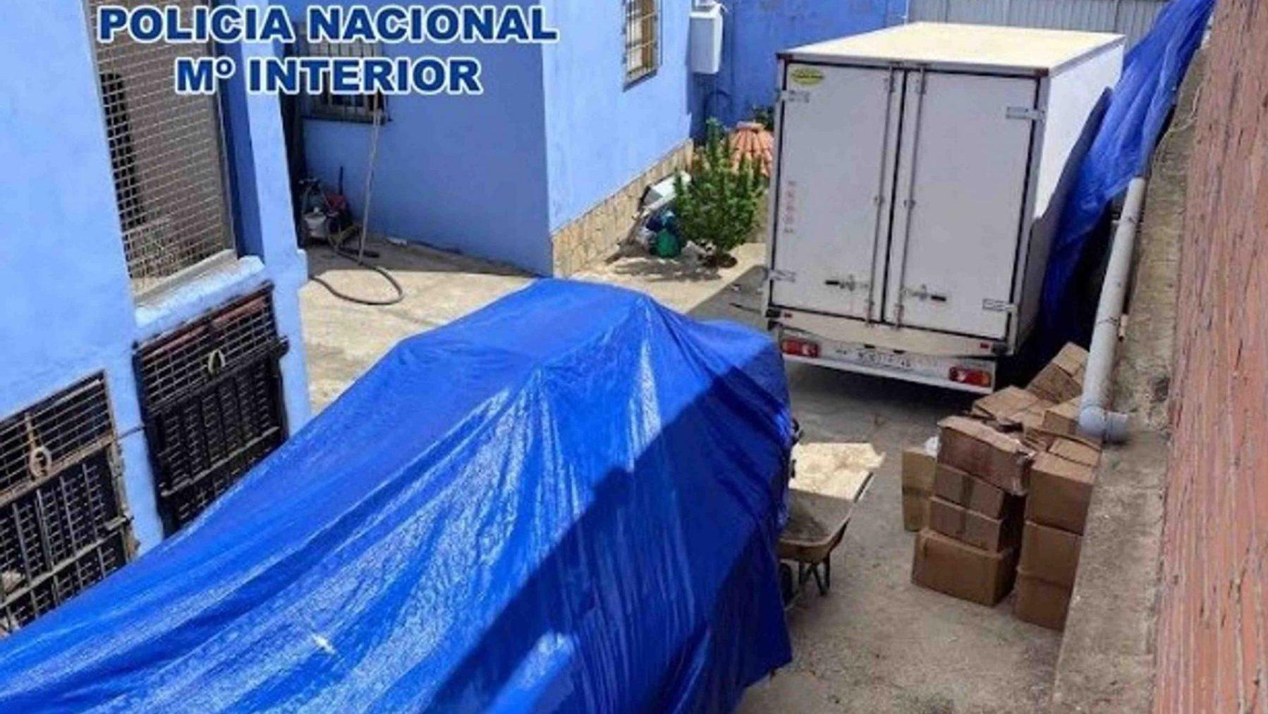 Vivienda donde han sido intervenidas más de ocho toneladas de hachís (POLICÍA NACIONAL).