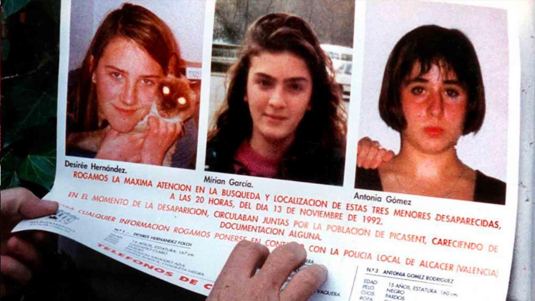 Las tres menores asesinadas en Alcácer