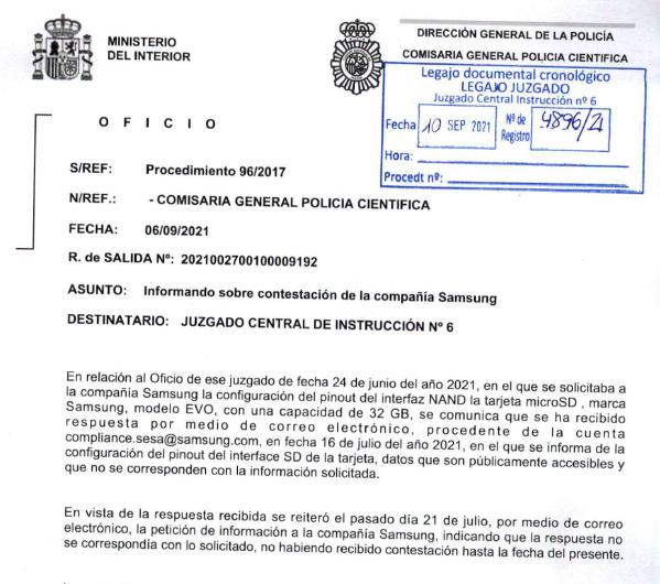 Oficio de la Policía.
