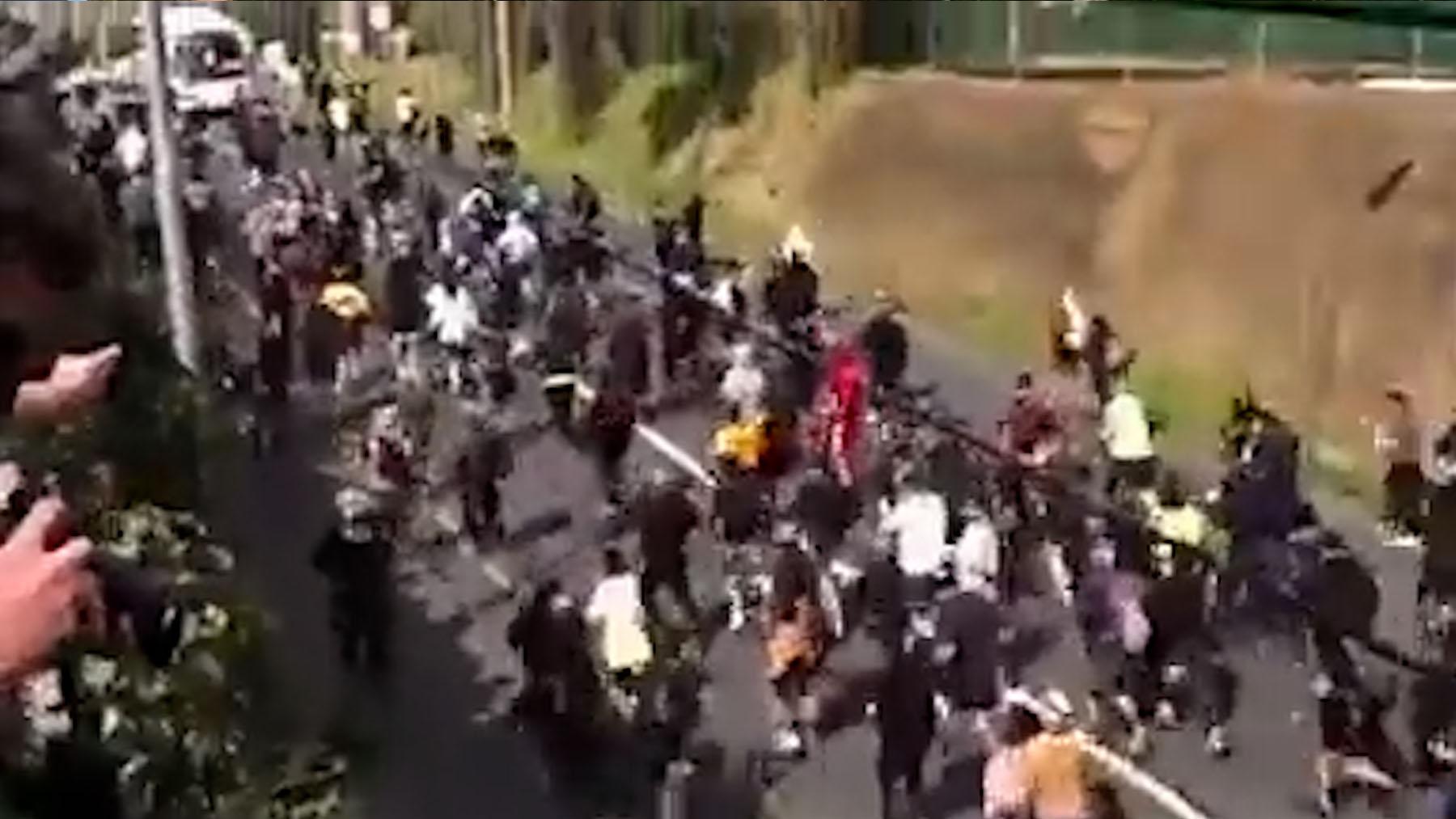 Protestas en Melbourne contra el confinamiento.