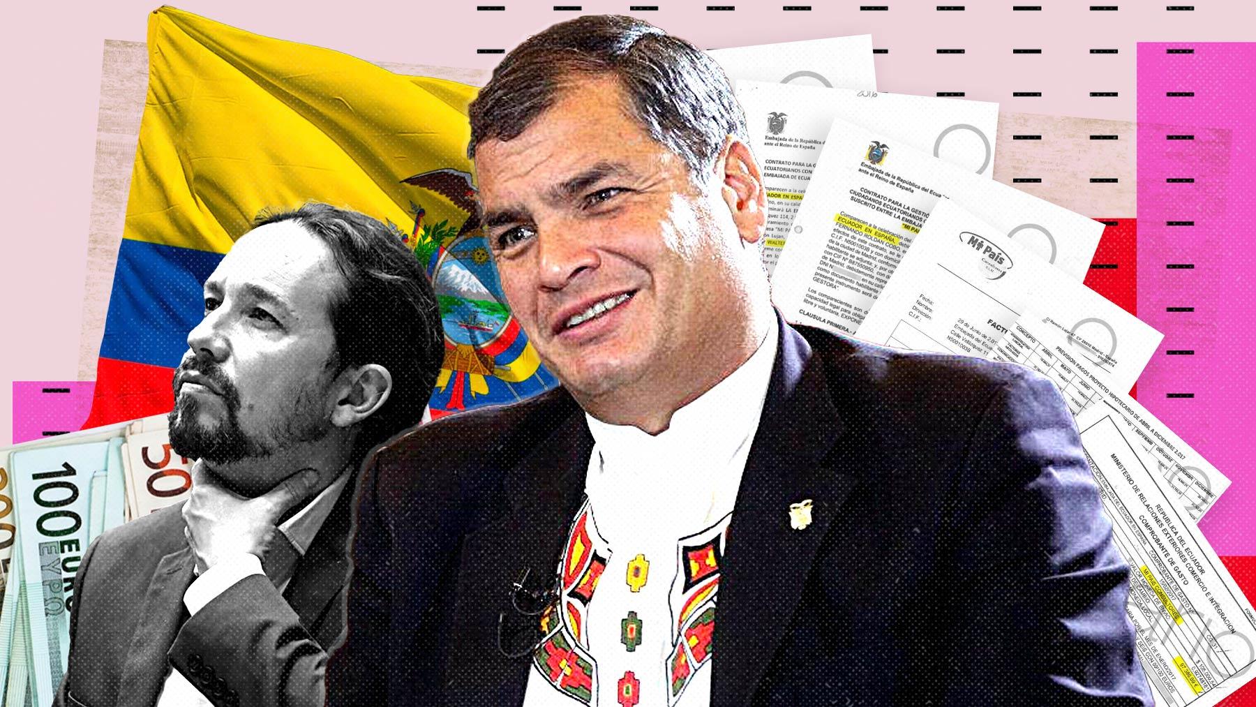 El ex presidente de Ecuador Rafael Correa y Pablo Iglesias.