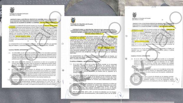 Contratos entre la Embajada de Ecuador en España y Mi País Consultores SL.