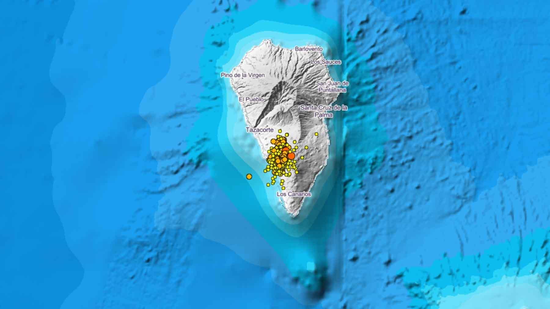 Actividad sísmica en la isla de La Palma