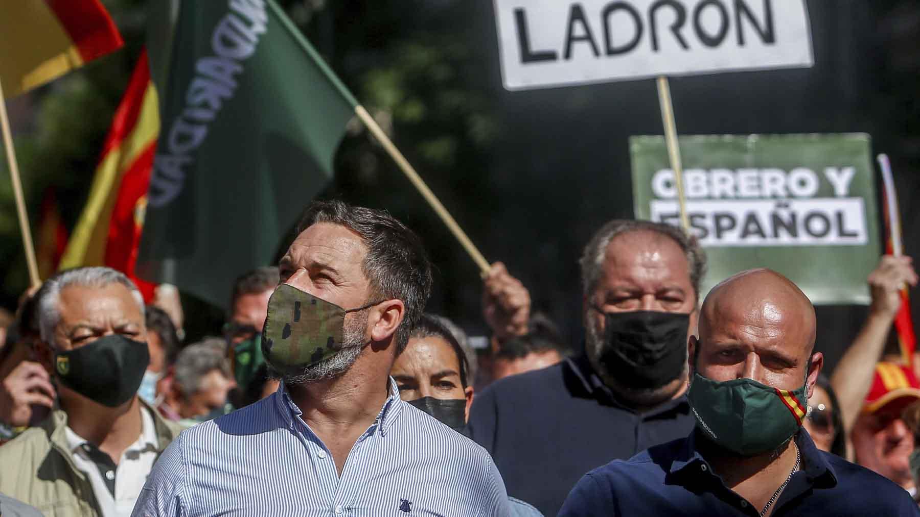 Santiago Abascal en una manifestación de Solidaridad. Foto: Europa Press