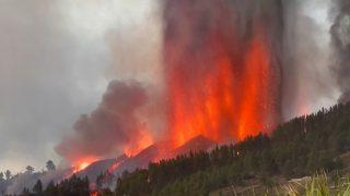 Erupción del volcán Cumbre Vieja en La Palma, en las Islas Canarias.