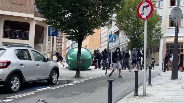 Protestas en Mondragón.