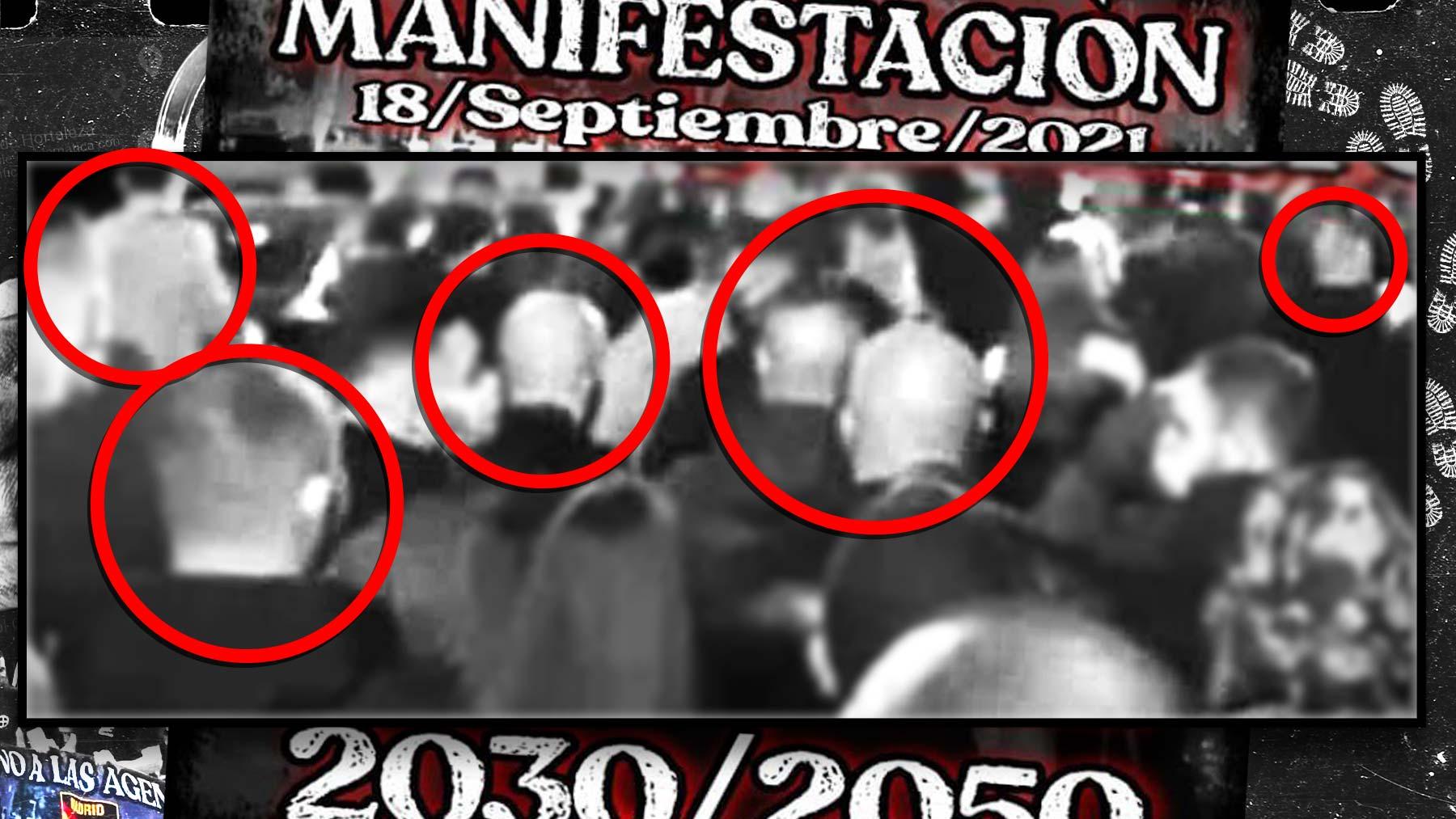 El detalle del cartel con estética neonazi de la marcha de Chueca.