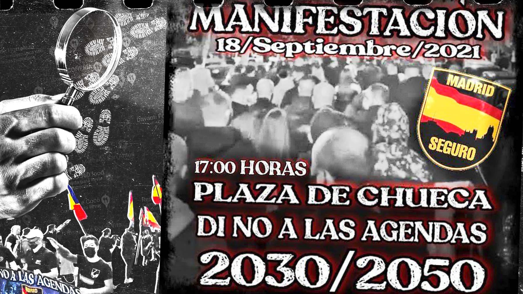 El cartel con el que se convocaba la marcha en Chueca que puso en alerta a la Policía.