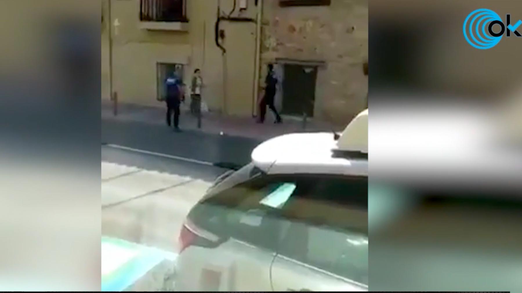 Momento de la detención de Noelia de Mingo