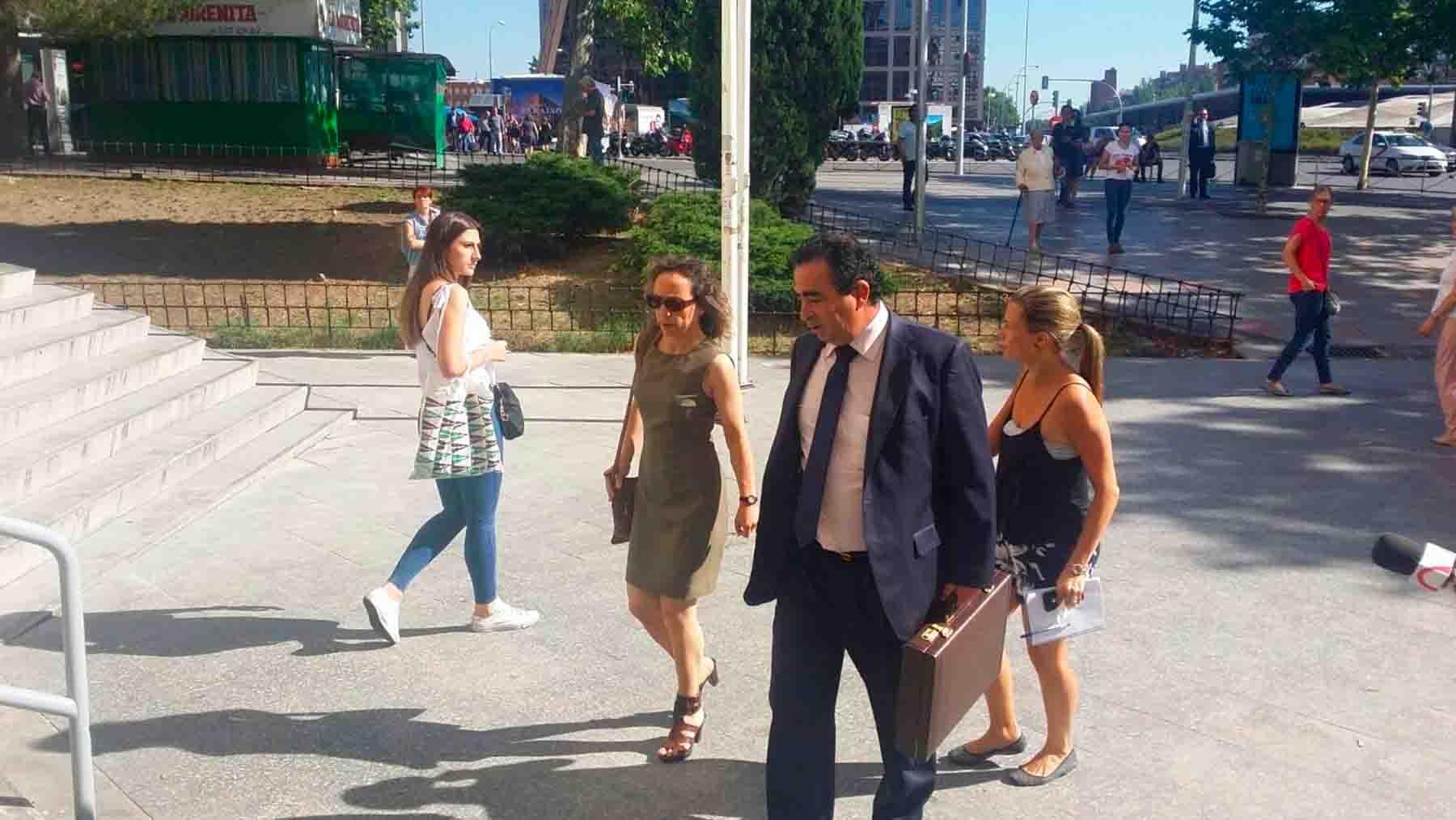Noelia de Mingo llega a los juzgados de Plaza de Castilla