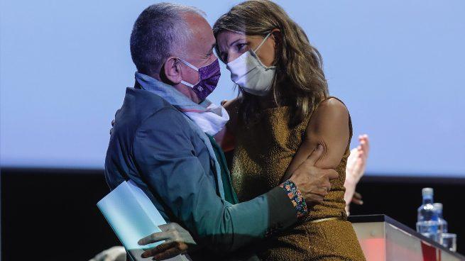 Pepe Álvarez (UGT) y la ministra Yolanda Díaz. (Foto: EP)