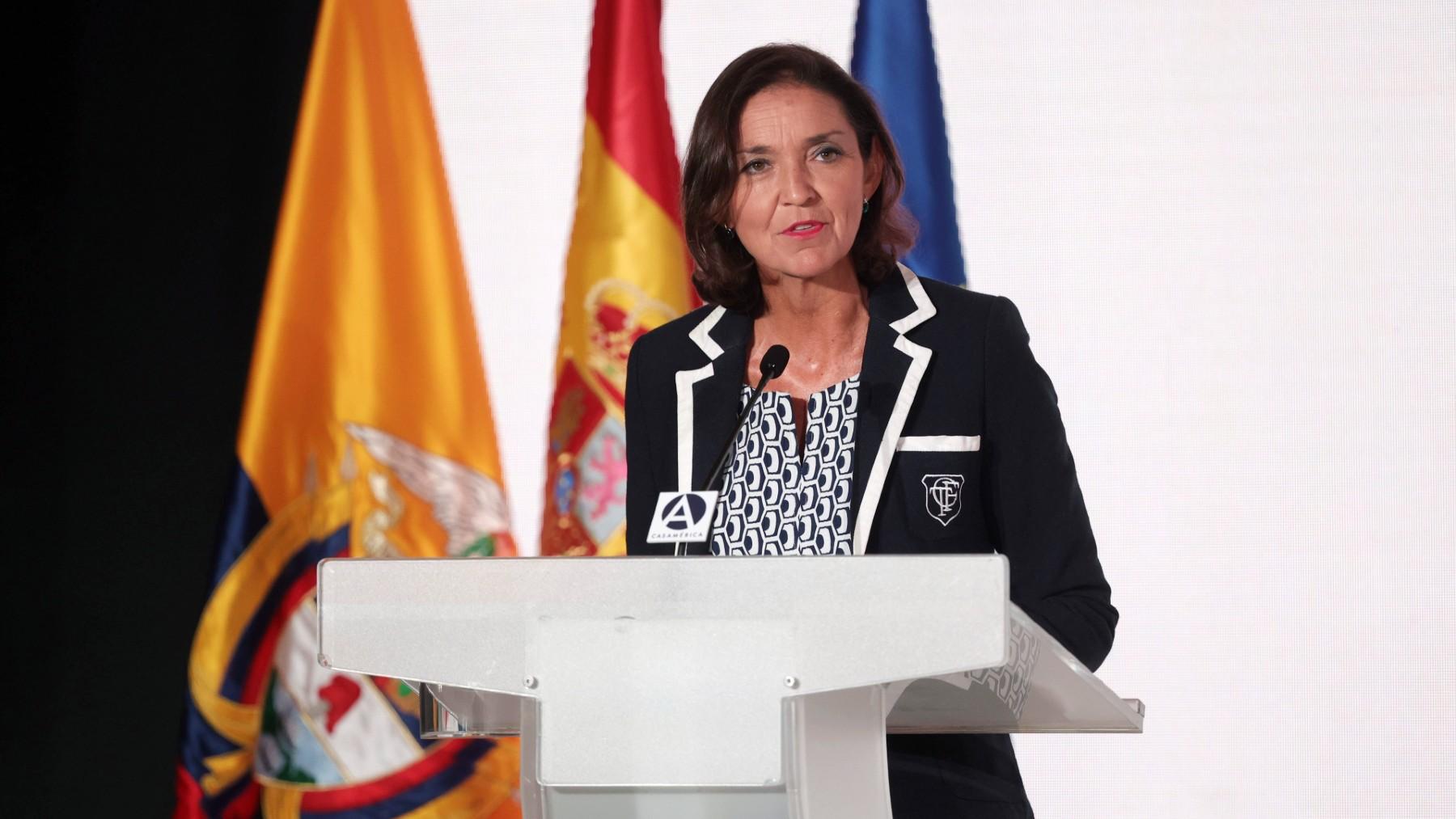 La ministra de Industria, Comercio y Turismo, Reyes Maroto. (Foto: Europa Press)
