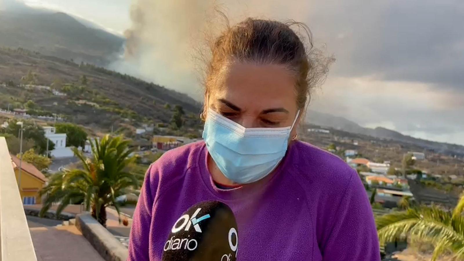 Una de las afectadas por el volcán de La Palma.