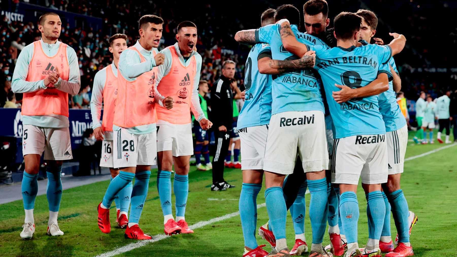 El Celta venció al Levante en el Ciudad de Valencia. (Efe)