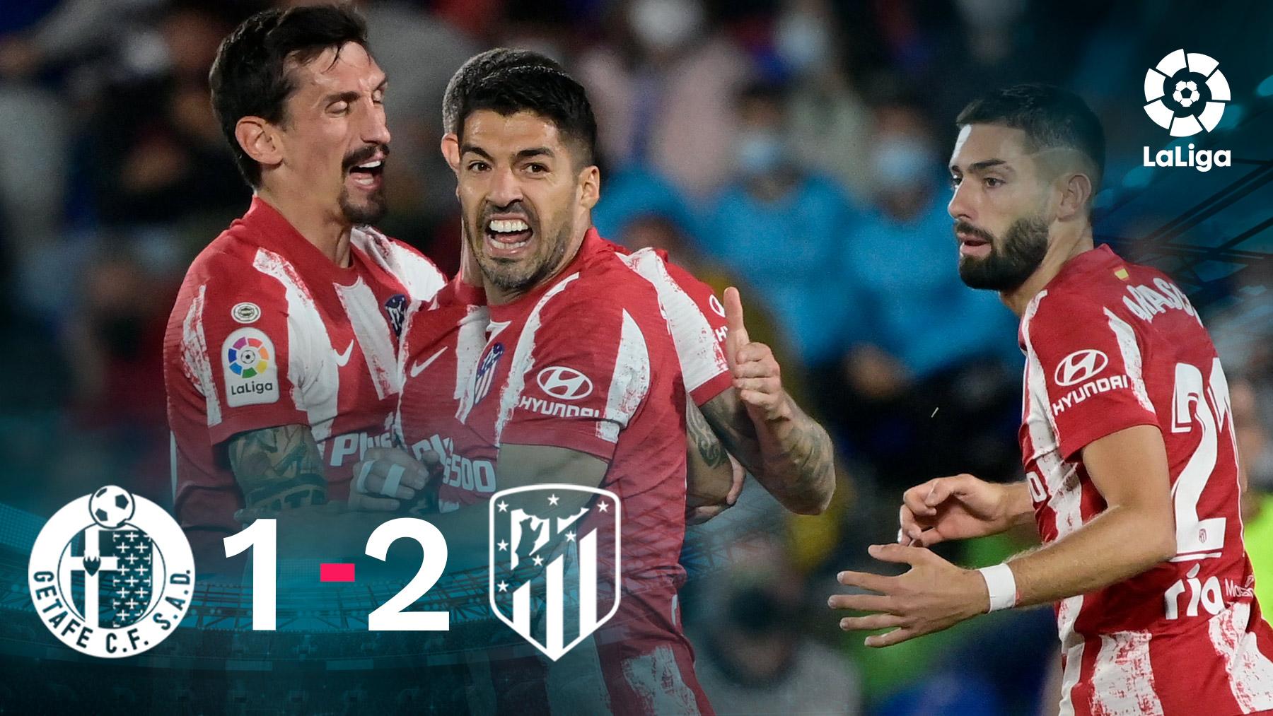 El Atlético venció al Getafe en el Coliseum.