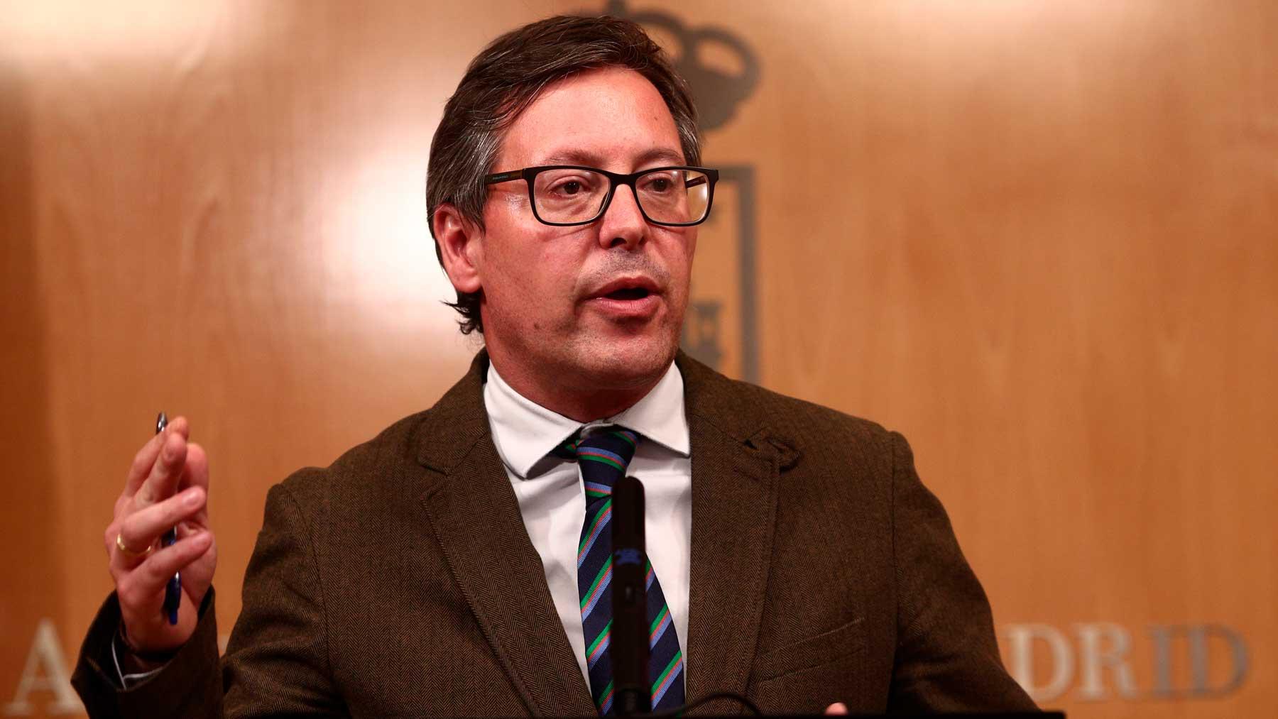 El portavoz del PP en la Asamblea de Madrid, Alfonso Serrano. Foto: EP