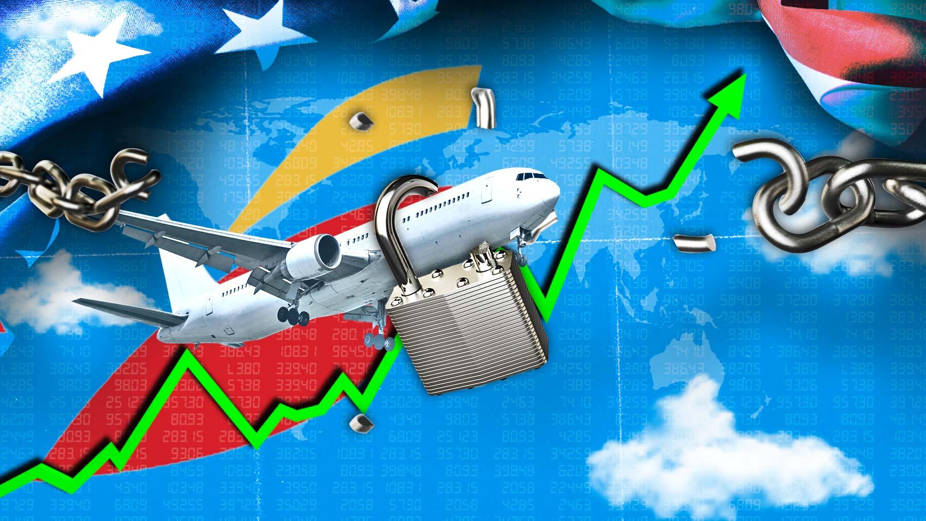 Subidas del sector turismo en Bolsa.