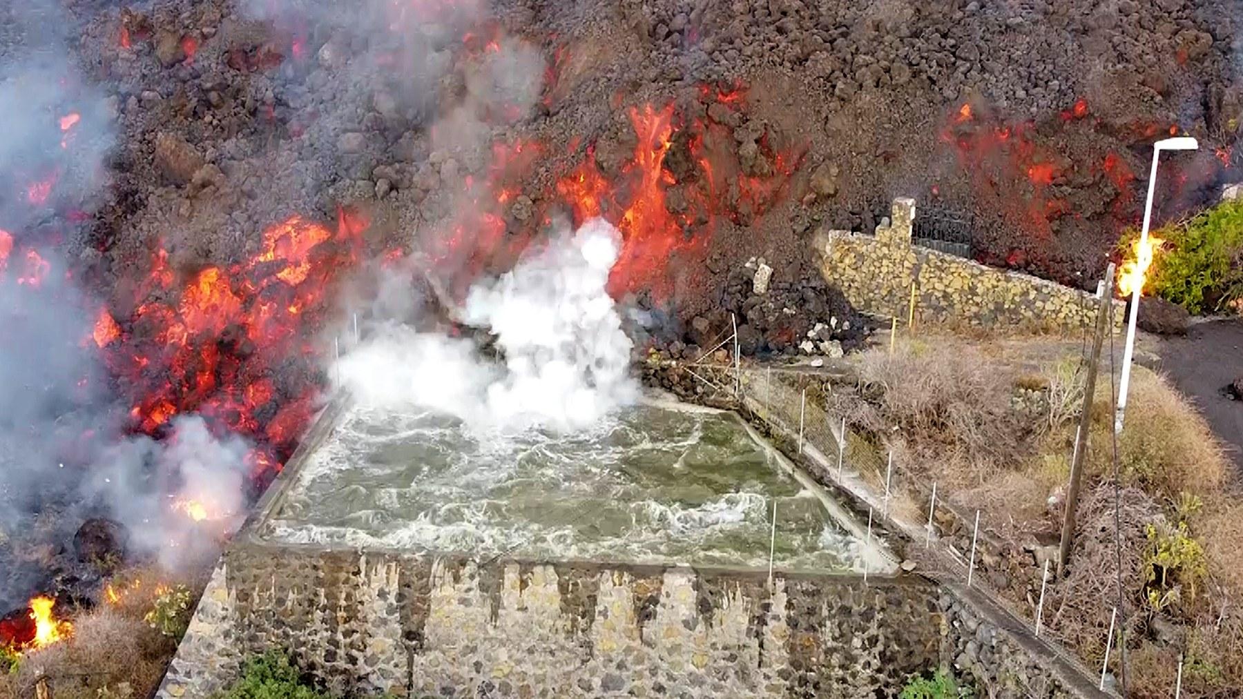 Los estragos del volcán Cumbre Vieja de La Palma. (Foto: Europa Press)