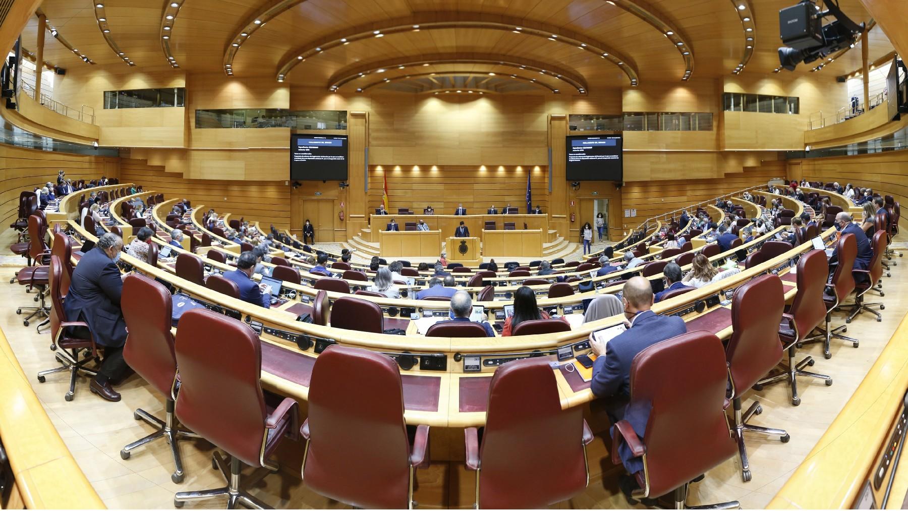 Imagen del Pleno del Senado esta semana. (Foto: Senado)