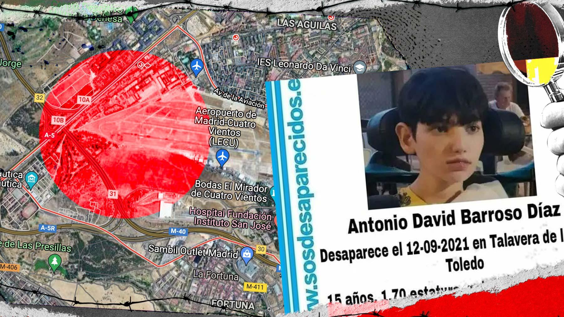 La Policía ha buscado a Antonio David en el entorno de Cuatrovientos.