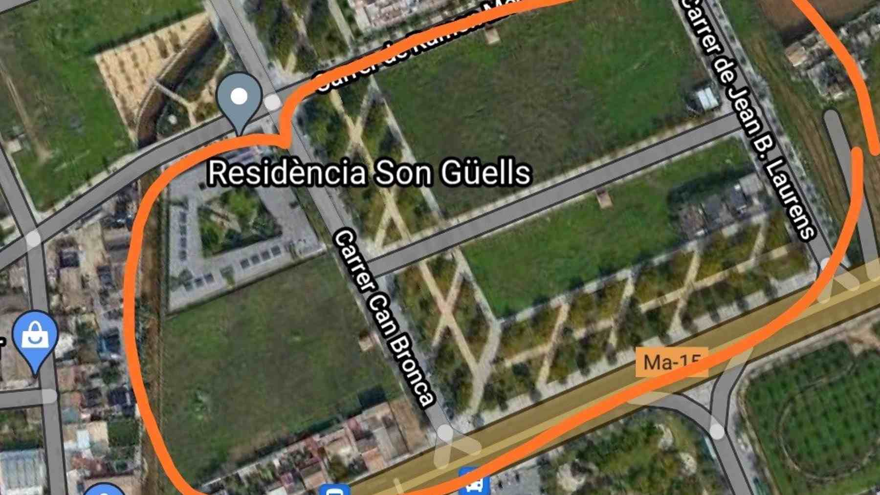 Terrenos a edificar en el barrio de Son Güells en Palma