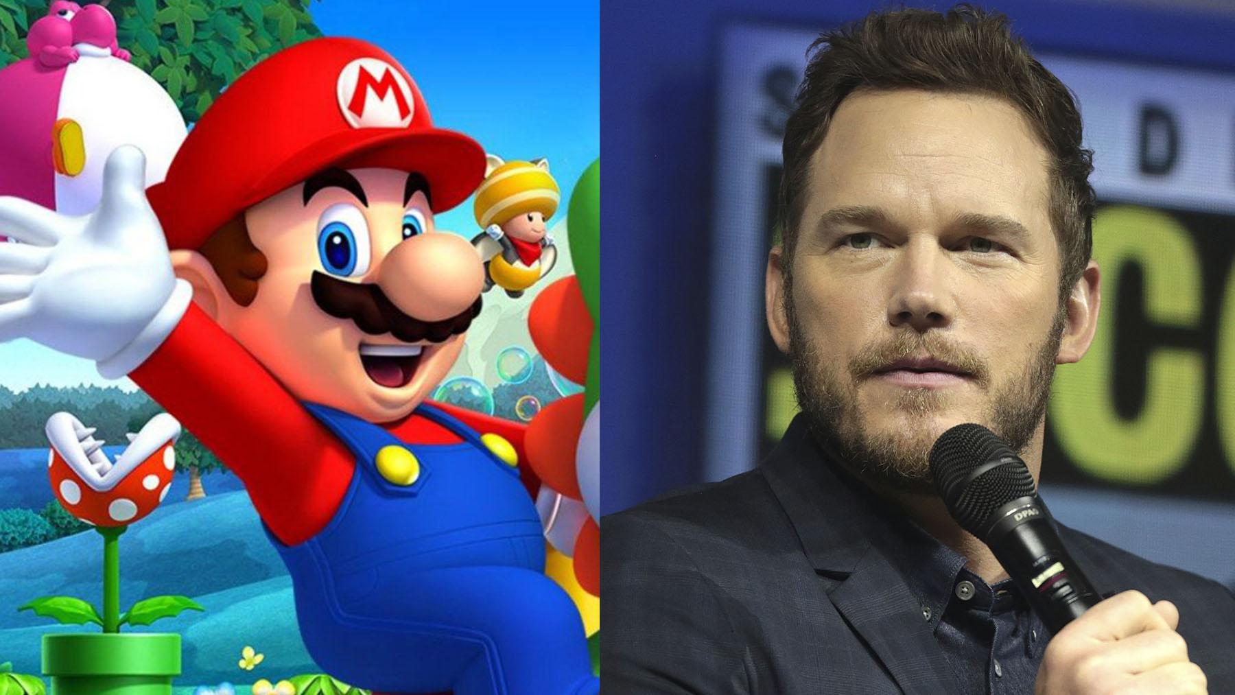Chris Pratt pondrá su voz a Mario en la película animada