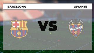 Barcelona Levante dónde ver el partido