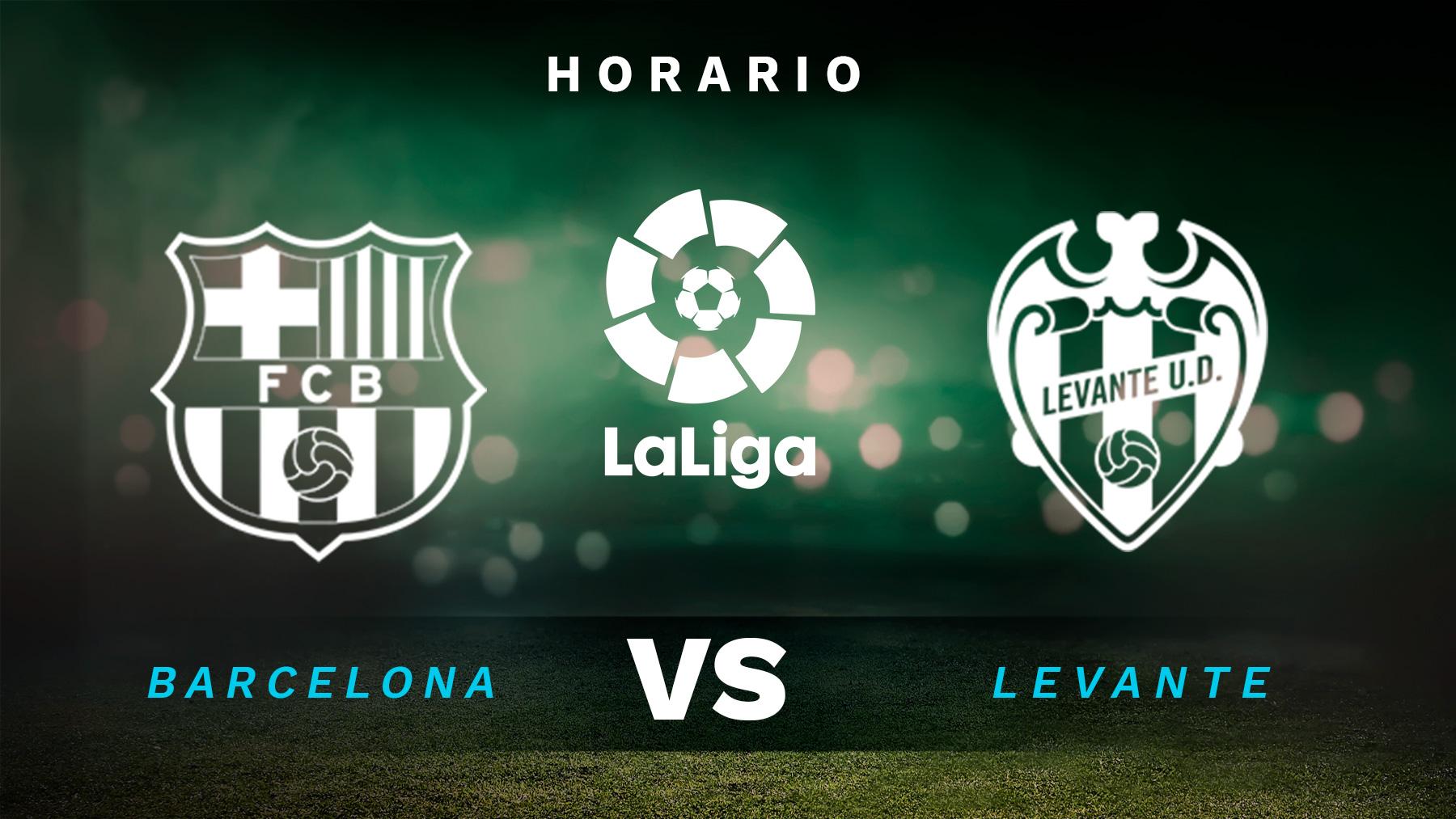 Barcelona – Levante: horario y dónde ver el partido por televisión de Liga Santander, en directo.