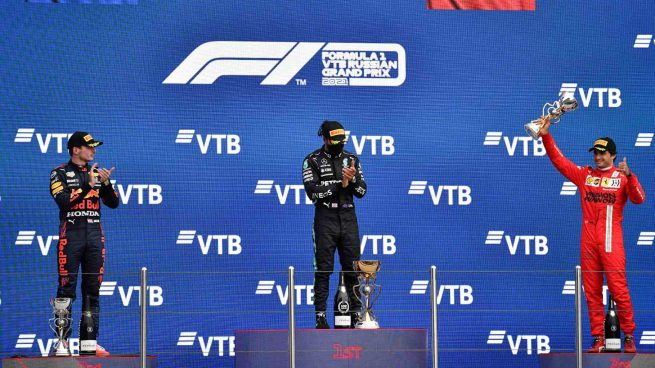 Verstappen, Hamilton y Sainz