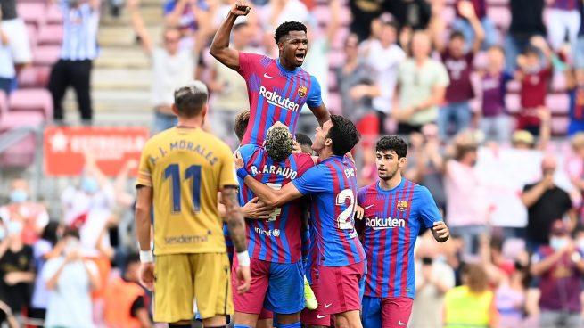 Ansu Fati con el FC Barcelona
