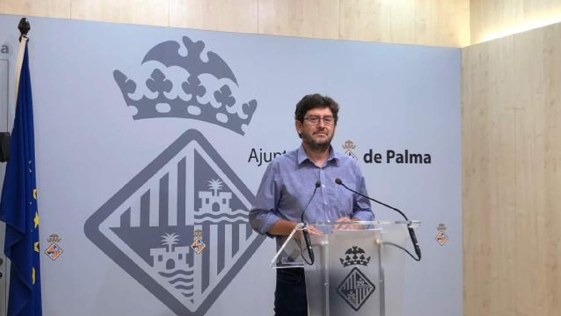 El concejal de Unidas Podemos y portavoz del Ayuntamiento de Palma, Alberto Jarabo.
